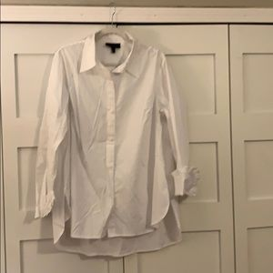 Long sleeves white button up tunic, 14/16